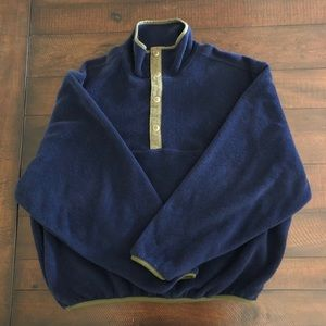 Vintage Men's L Woolrich 1/4 Snap up Fleece